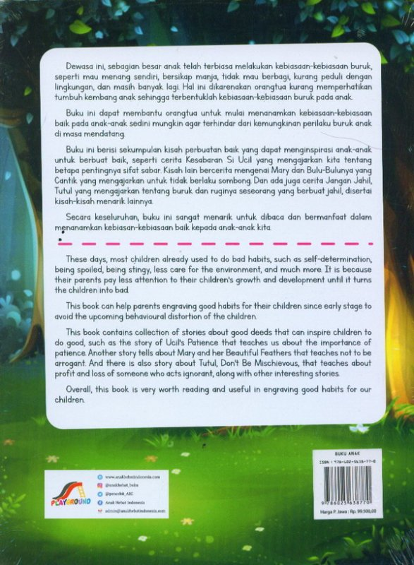 Cover Belakang Buku Kebiasaan-Kebiasaan Baik Untuk Anak