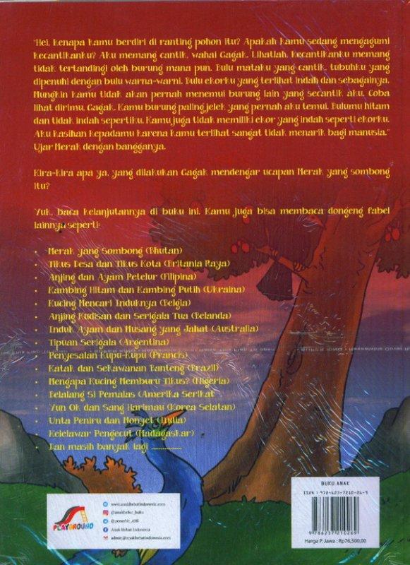 Cover Belakang Buku Kumpulan Fabel Terbaik Sepanjang Masa