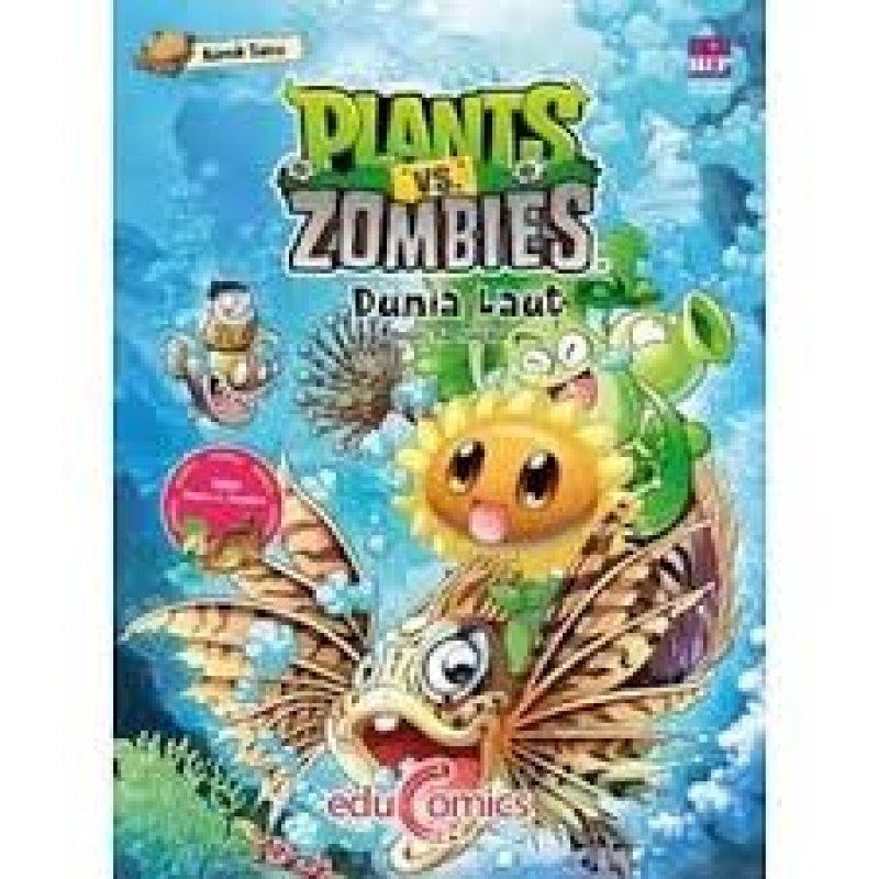 Cover Belakang Buku Educomics Plants Vs Zombies : Dunia Laut