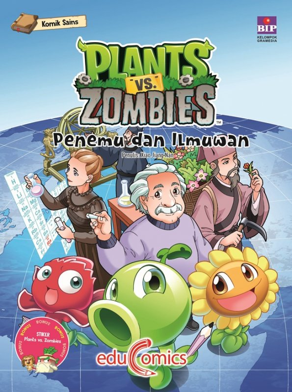 Cover Buku Educomics Plants Vs Zombies : Penemu Dan Ilmuan