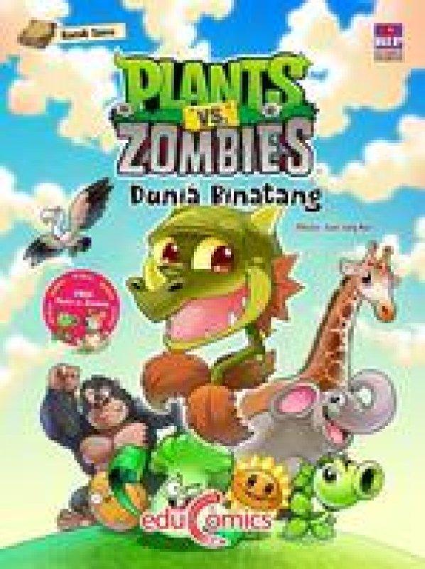 Cover Buku Educomics Plants VS Zombies: Dunia Binatang