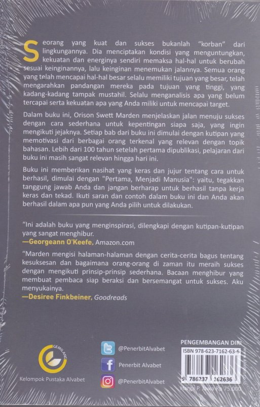 Cover Belakang Buku Jalan Menuju Sukses