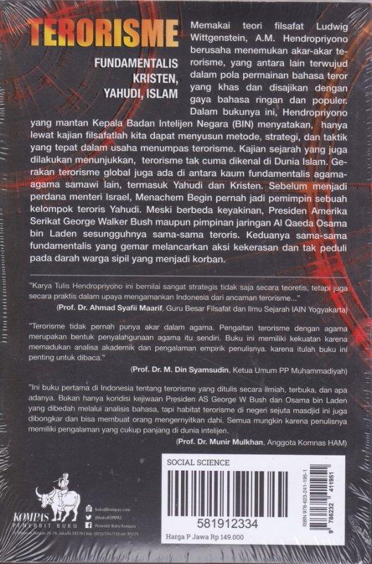 Cover Belakang Buku TERORISME Fundamentalis kristen, yahudi , islam