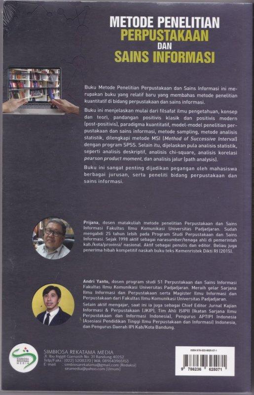 Cover Belakang Buku METODE PENELITIAN PERPUSTAKAAN DAN SAINS INFORMASI