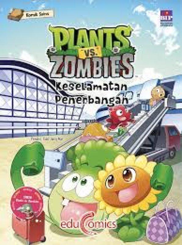 Cover Belakang Buku Educomics Plants Vs Zombies : Keselamatan Penerbangan