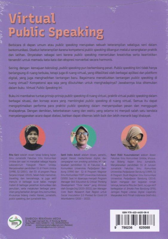 Cover Belakang Buku Virtual Public Speaking