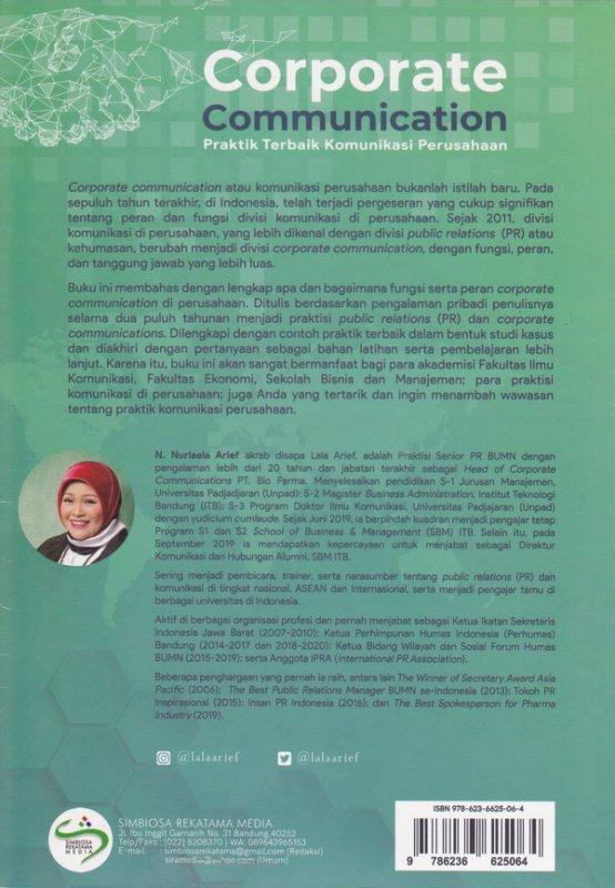 Cover Belakang Buku Corporate Commnication (Praktik Terbaik komunikasi Perusahaan)