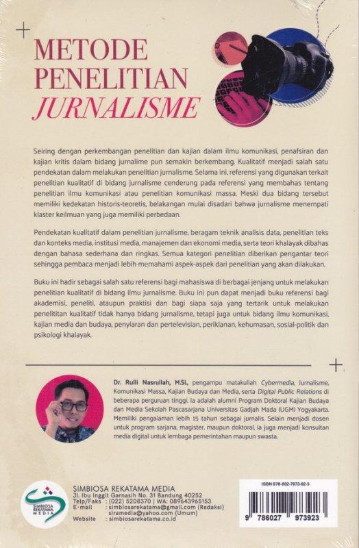 Cover Belakang Buku Metode Penelitian Jurnalisme( pendekatan kualitatif)