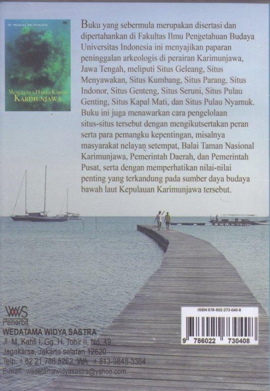 Cover Belakang Buku MENGELOLA HARTA KARUN KARIMUNJAWA