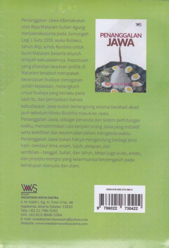 Cover Belakang Buku PENANGGALAN JAWA