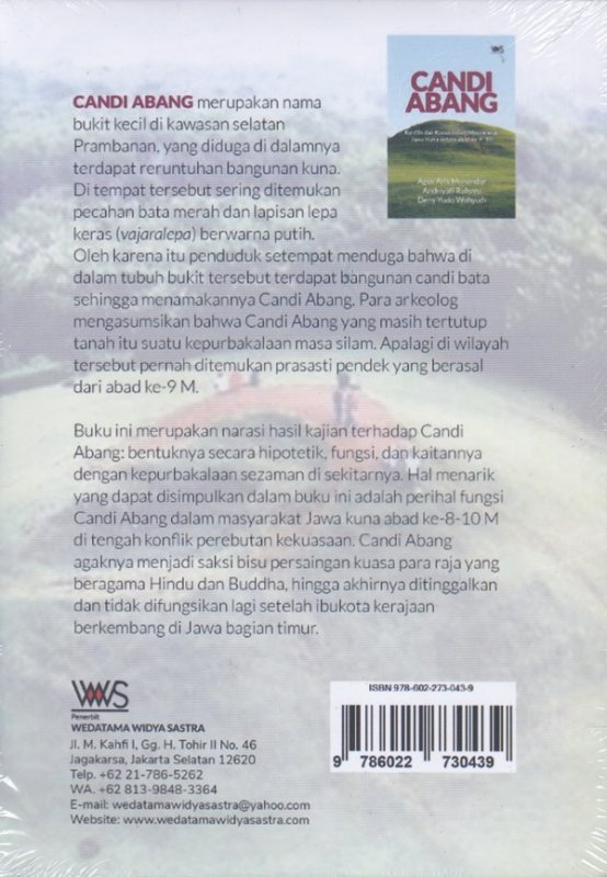 Cover Belakang Buku CANDI ABANG.Konflik dan Kuasa dalam Masyarakat Jawa Kuna antara abad ke 9-10