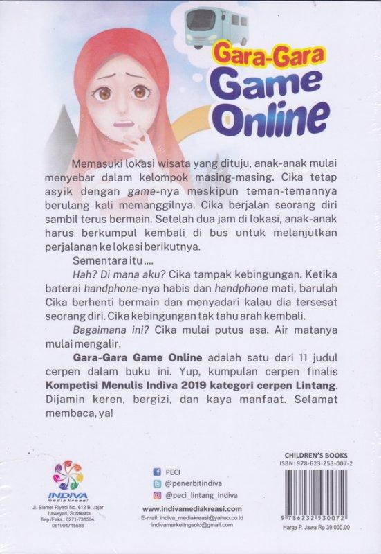 Cover Belakang Buku Gara-Gara Game Online (peci)