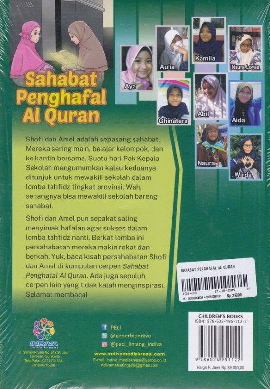Cover Belakang Buku Sahabat Penghafal Al Quran