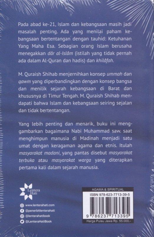 Cover Belakang Buku Islam & Kebangsaan: Tauhid, Kemanusiaan dan Kewarganegaraan(Reguler)