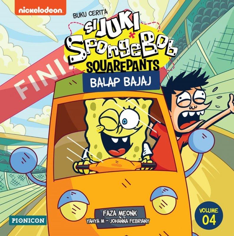 Cover Buku Juki-Spongebob: Balap Bajaj