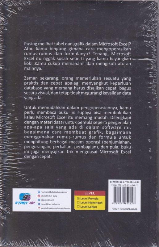 Cover Belakang Buku MICROSOFT EXCEL ITU MUDAH: Trik Cepat Kuasai Formula & Fungsinya