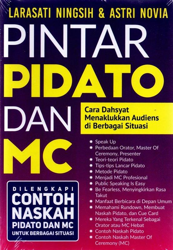 Cover Buku PINTAR PIDATO DAN MC: Cara Dahsyat Menaklukkan Audiens di Berbagai Situasi