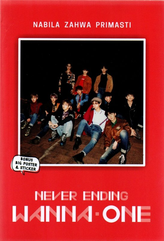 Cover Buku Never Ending Wanna One