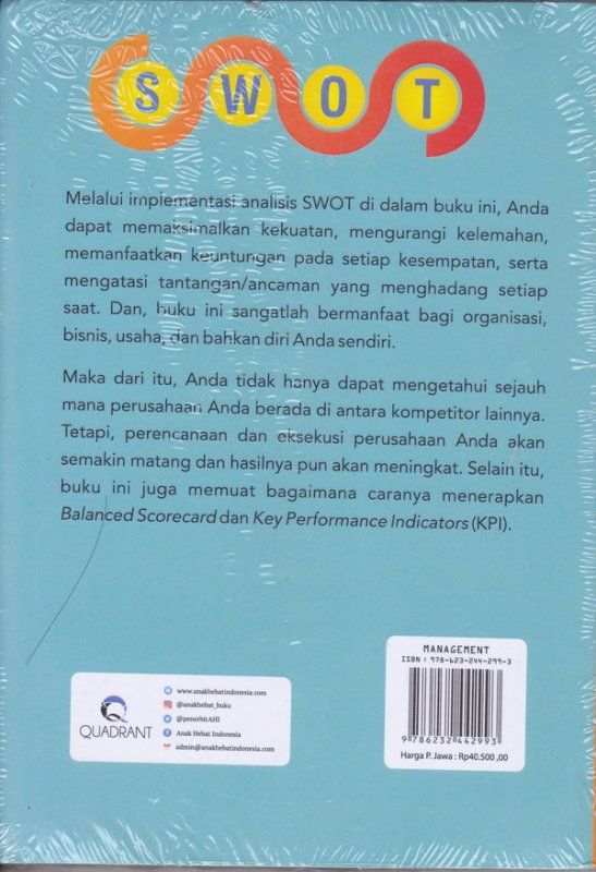 Cover Belakang Buku SWOT ANALYSIS ALIVE AND KICKING