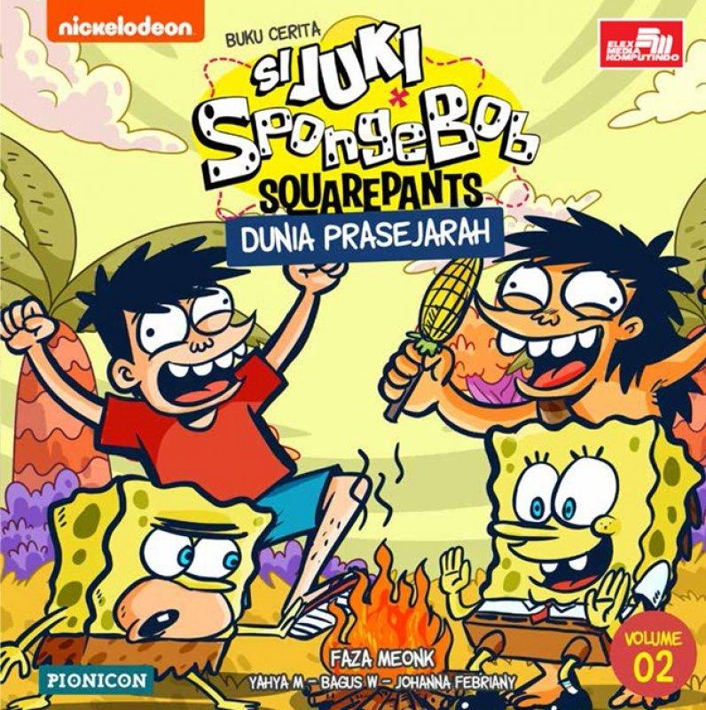 Cover Buku Juki-Spongebob: Dunia Prasejarah