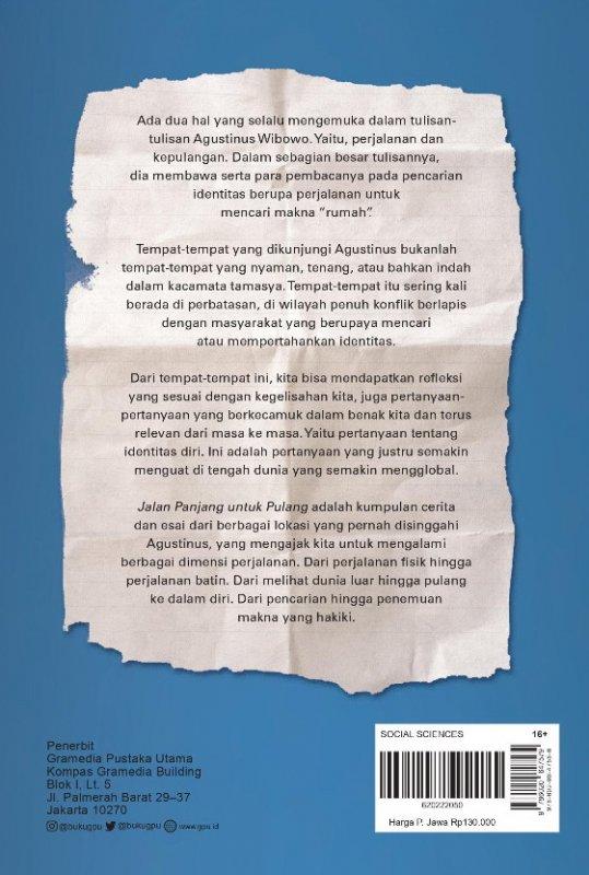 Cover Belakang Buku Jalan Panjang Untuk Pulang  (Edisi Tanda Tangan)