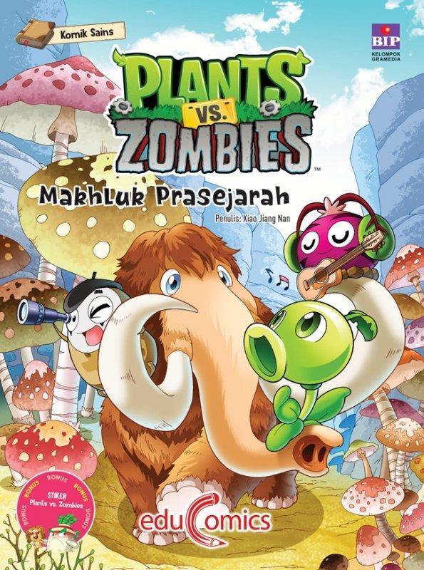 Cover Buku Educomics Plants Vs Zombies : Makhluk Prasejarah