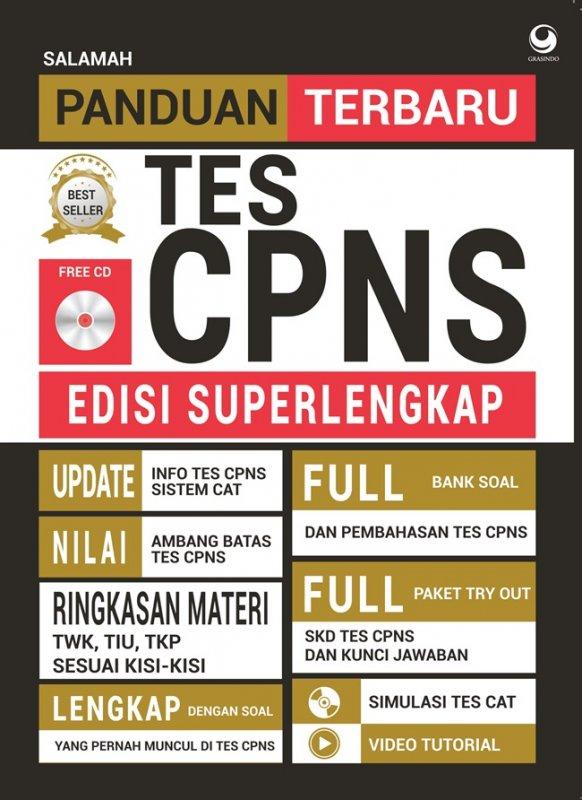 Cover Buku Panduan Terbaru Tes Cpns Edisi Superlengkap
