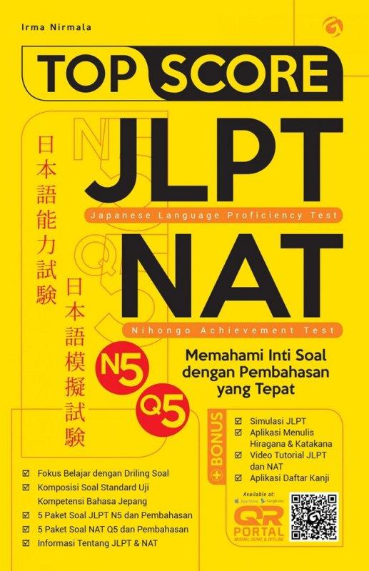 Cover Buku Top Score Jlpt-Nat Japanese Language Proficiecy Test Nihongo