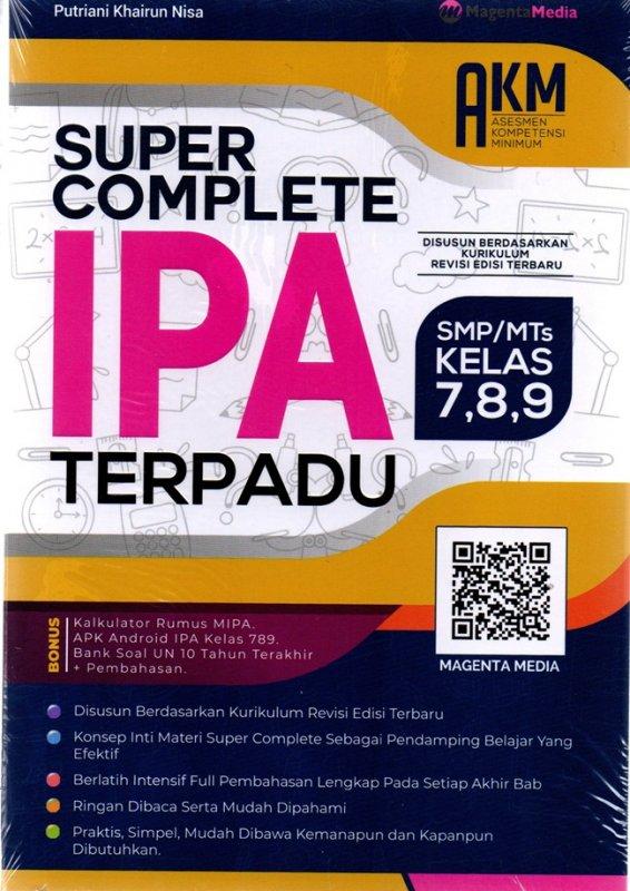 Cover Buku Super Complete Ipa Terpadu Smp/Mts 7,8,9