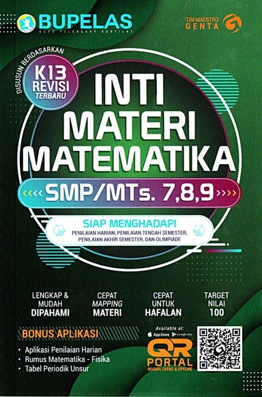 Cover Buku Inti Materi Matematika Smp Kelas 7,8,9