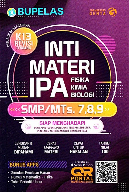Cover Buku Inti Materi Ipa Ilmu Pengetahuan Alam Smp Kelas 7,8,9