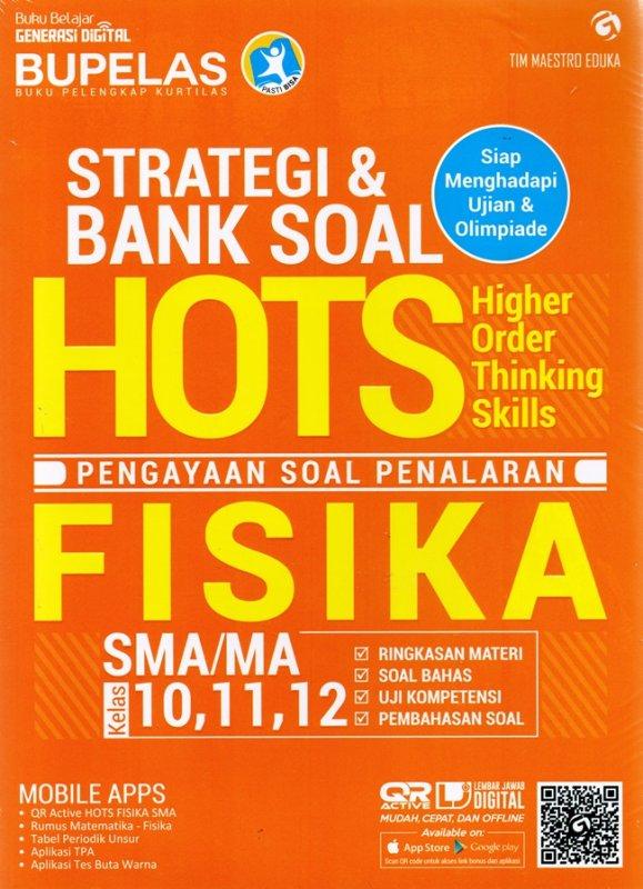 Cover Buku Strategi & Bank Soal Hots Fisika Sma 10,11,12