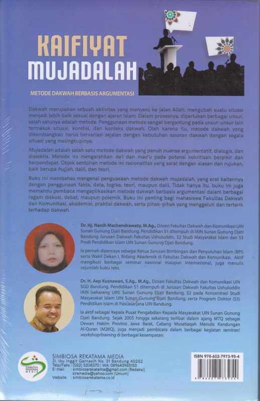 Cover Belakang Buku KAIFIYAT MUJADALAH ( Metode Dakwah Berbasis Argumentasi )