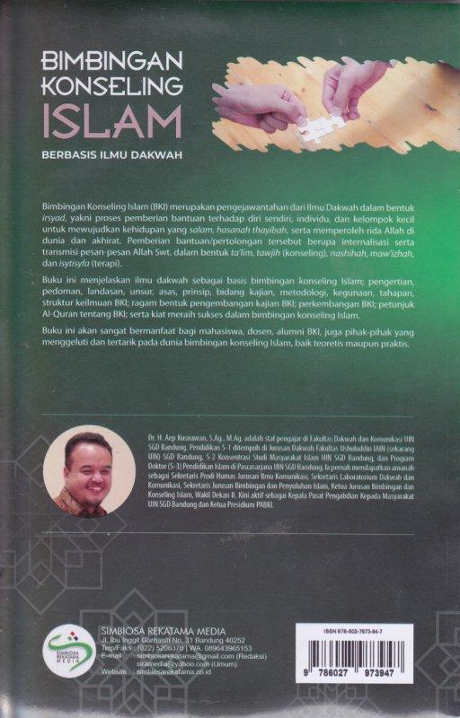 Cover Belakang Buku Bimbingan Konseling Islam ( BERBASIS ILMU DAKWAH )