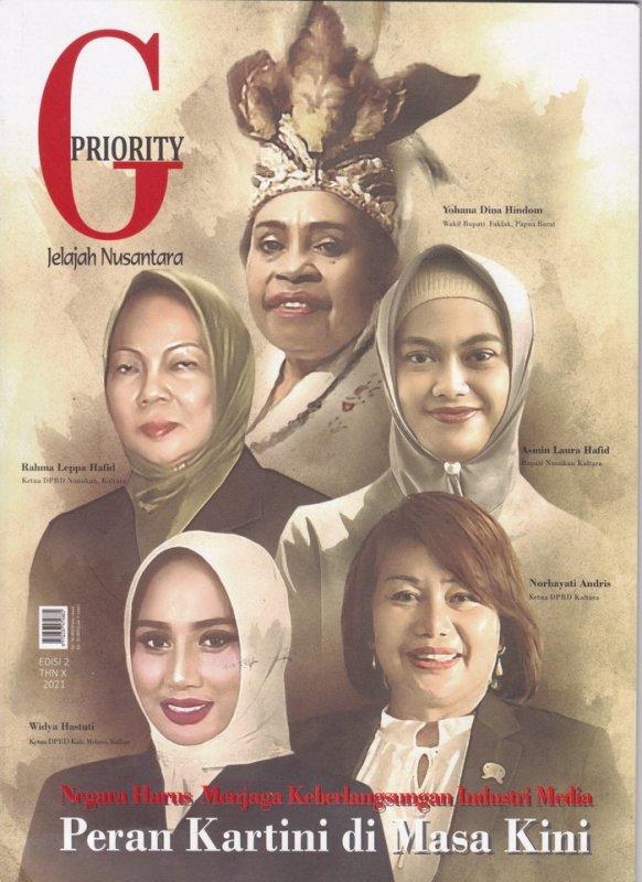 Cover Buku Majalah Gpriority EDISI 2 THN X 2021