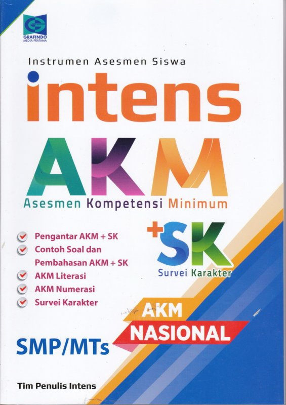 Cover Buku Asesmen Kompetensi Minimun ( AKM ) SMP / MTS