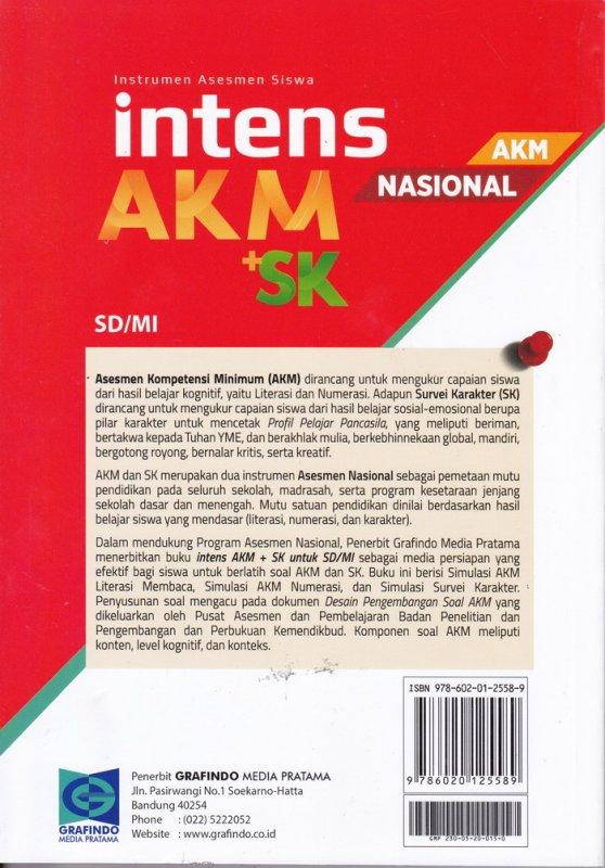 Cover Belakang Buku Asesmen Kompetensi Minimun ( AKM ) SD / MI