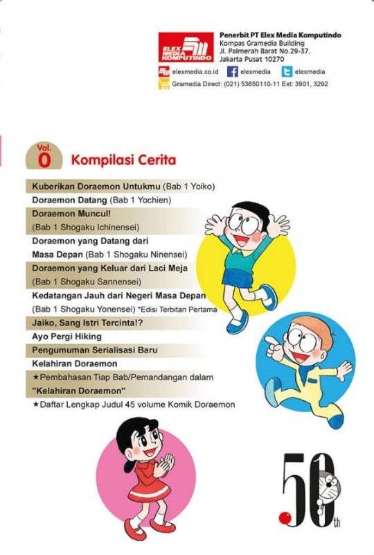 Cover Belakang Buku Komik Doraemon Vol. 0