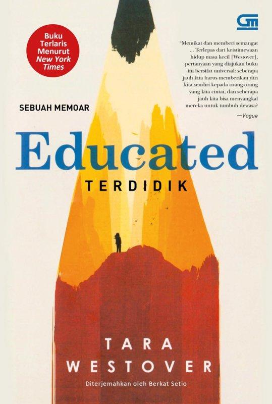 Cover Buku Terdidik (Educated) - Sebuah Memoar