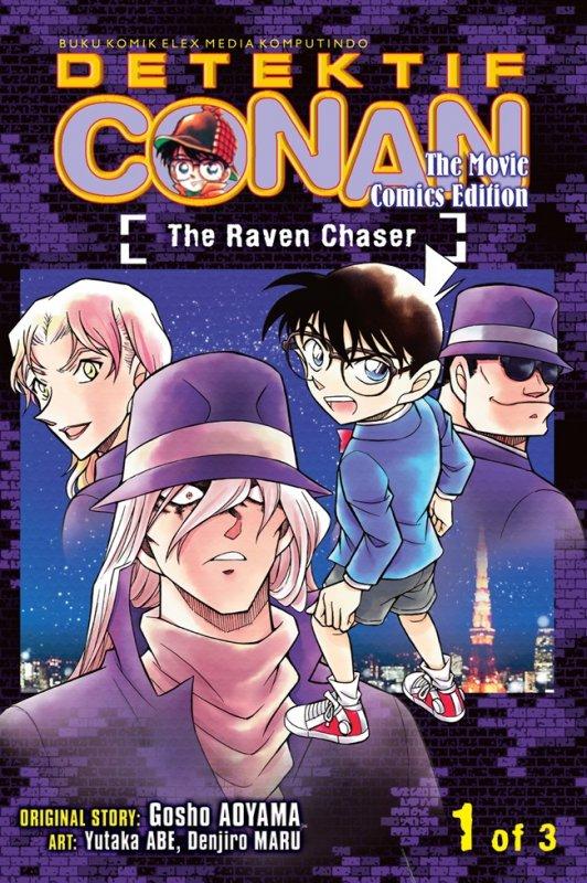 Cover Buku Detektif Conan The Movie: The Raven Chaser 01
