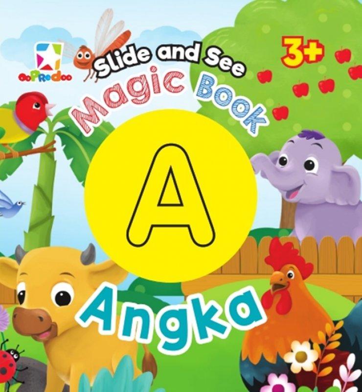 Cover Buku Opredo Slide And See Magic Book - Angka