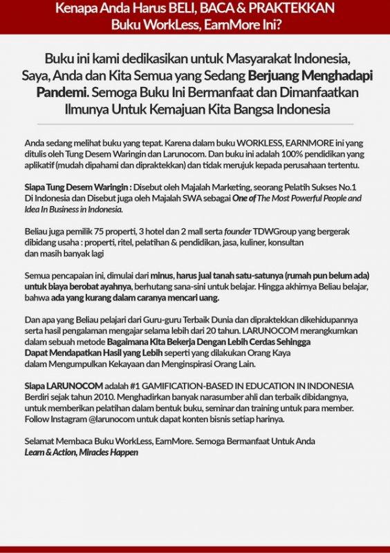 Cover Belakang Buku Workless Earnmore the trilogy Part 2