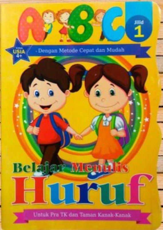 Cover Buku Belajar Menulis Huruf ABC Jilid 1