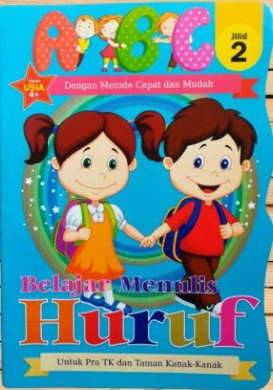 Cover Buku Belajar Menulis Huruf ABC Jilid 2