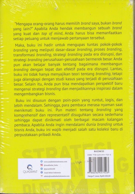 Cover Belakang Buku 99  STRATEGI BRANDING DI ERA 4.0 (2021)