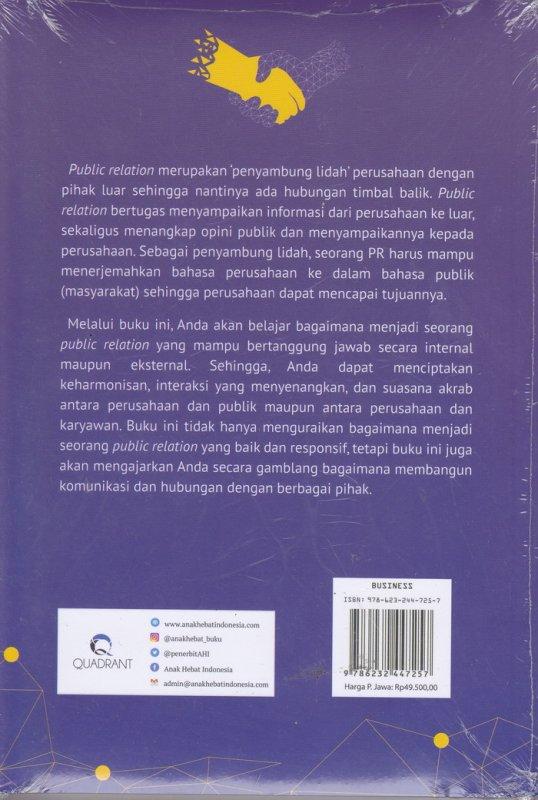 Cover Belakang Buku 14 JAM BELAJAR PUBLIC RELATION