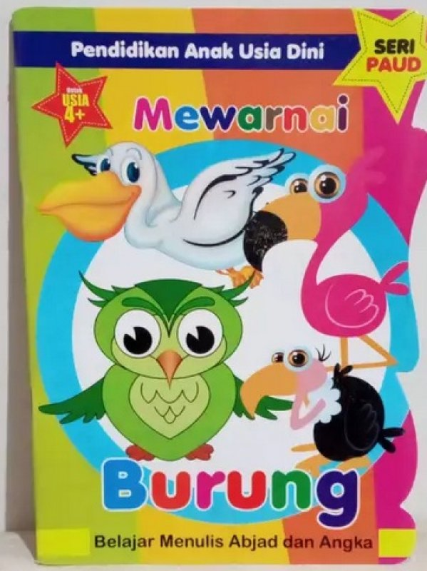 Cover Buku Pendidikan Anak Usia Dini : Mewarnai Burung