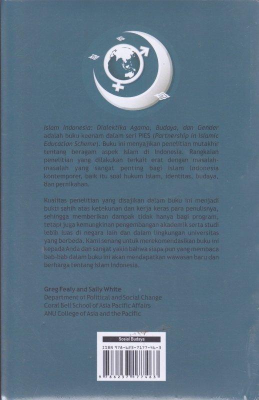 Cover Belakang Buku Islam Indonesia : Dialektika Agama,Budaya,dan Gender