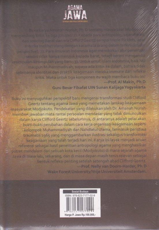 Cover Belakang Buku Agama Jawa : setengah abad pasca-Clifford Geertz