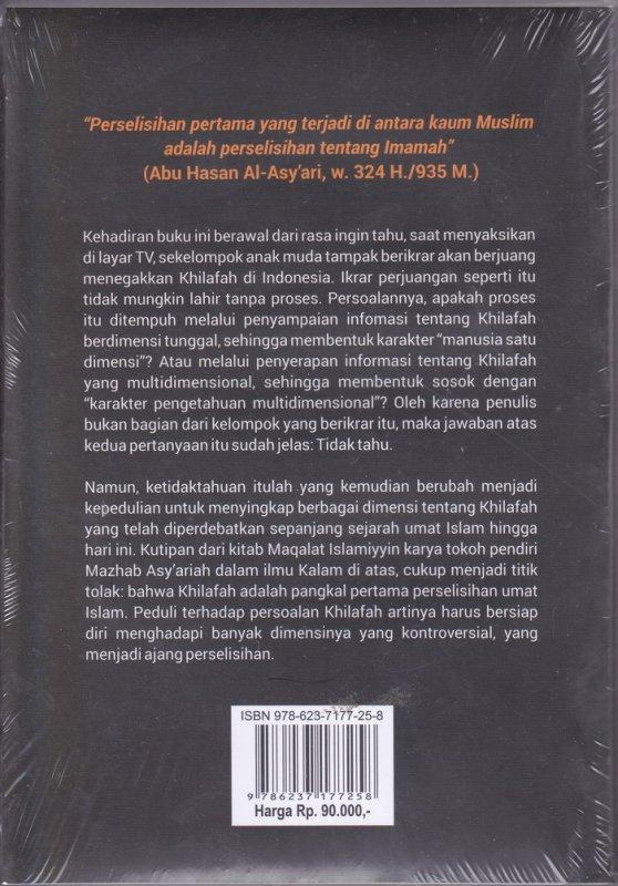 Cover Belakang Buku Kontroversi Khilafah New